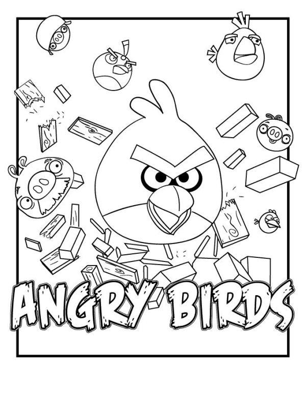 Kleurplaten Printen Angry Birds.Naamkleurplatenmaken Nl